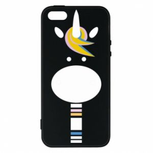 Etui na iPhone 5/5S/SE Zebra with colored stripes on the neck