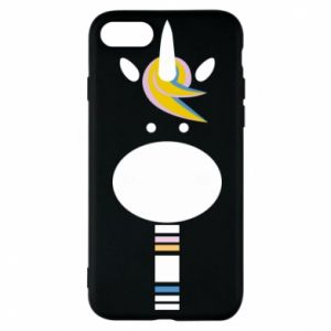 Etui na iPhone 8 Zebra with colored stripes on the neck