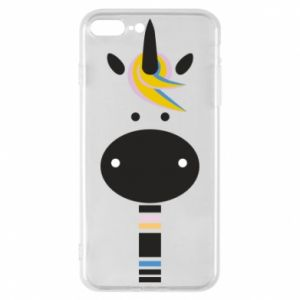 Etui na iPhone 8 Plus Zebra with colored stripes on the neck