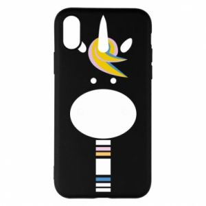 Etui na iPhone X/Xs Zebra with colored stripes on the neck