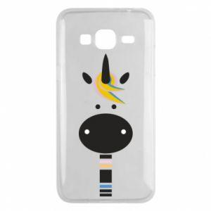 Etui na Samsung J3 2016 Zebra with colored stripes on the neck