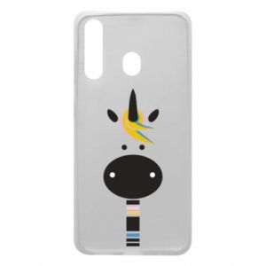 Etui na Samsung A60 Zebra with colored stripes on the neck