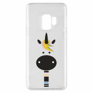 Etui na Samsung S9 Zebra with colored stripes on the neck