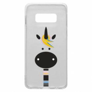 Etui na Samsung S10e Zebra with colored stripes on the neck