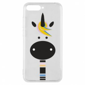 Etui na Huawei Y6 2018 Zebra with colored stripes on the neck
