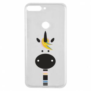 Etui na Huawei Y7 Prime 2018 Zebra with colored stripes on the neck