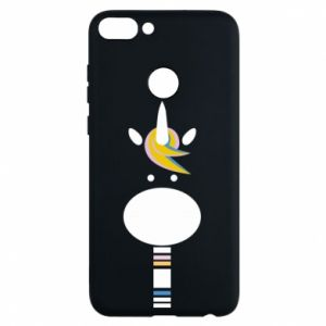 Phone case for Huawei P Smart Zebra with colored stripes on the neck - PrintSalon