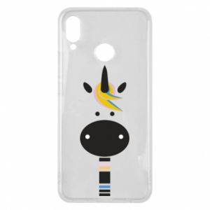 Etui na Huawei P Smart Plus Zebra with colored stripes on the neck