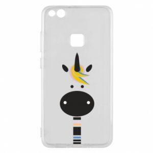 Etui na Huawei P10 Lite Zebra with colored stripes on the neck