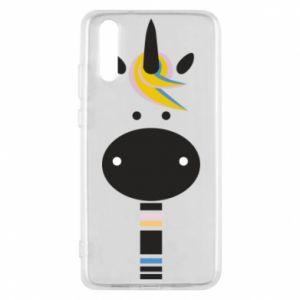 Etui na Huawei P20 Zebra with colored stripes on the neck
