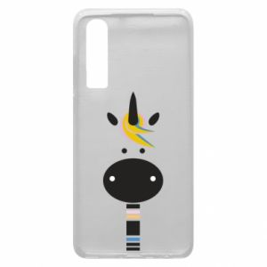 Etui na Huawei P30 Zebra with colored stripes on the neck