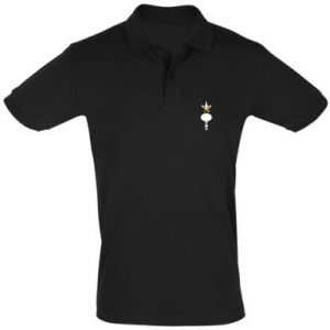 Men's Polo shirt Zebra with colored stripes on the neck - PrintSalon