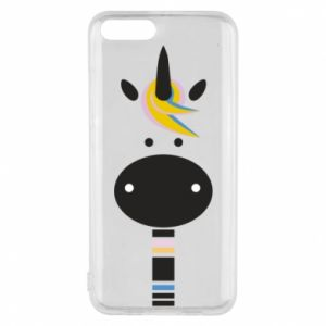 Etui na Xiaomi Mi6 Zebra with colored stripes on the neck