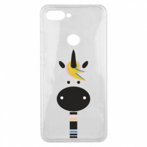 Etui na Xiaomi Mi8 Lite Zebra with colored stripes on the neck