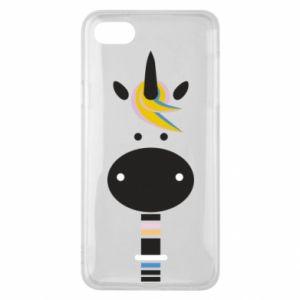 Etui na Xiaomi Redmi 6A Zebra with colored stripes on the neck