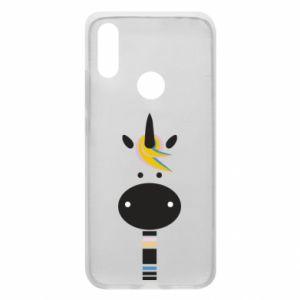 Etui na Xiaomi Redmi 7 Zebra with colored stripes on the neck