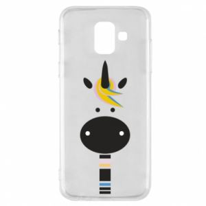 Etui na Samsung A6 2018 Zebra with colored stripes on the neck