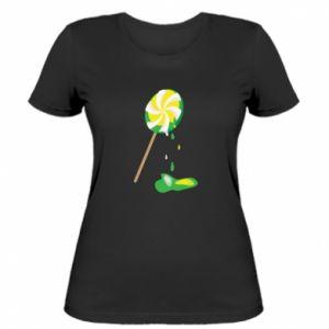 Damska koszulka Zielony lizak