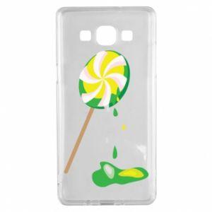 Etui na Samsung A5 2015 Zielony lizak
