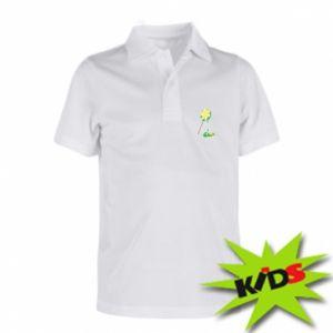 Dziecięca koszulka polo Zielony lizak