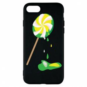 Etui na iPhone 8 Zielony lizak