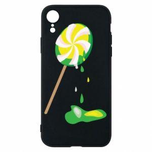 Etui na iPhone XR Zielony lizak