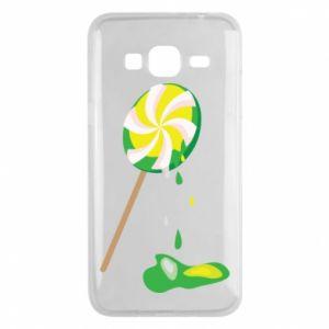 Etui na Samsung J3 2016 Zielony lizak