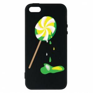 Etui na iPhone 5/5S/SE Zielony lizak