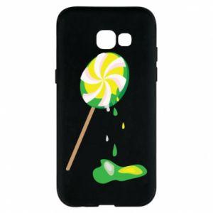 Etui na Samsung A5 2017 Zielony lizak