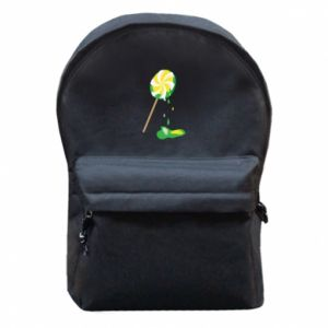 Backpack with front pocket Green lollipop