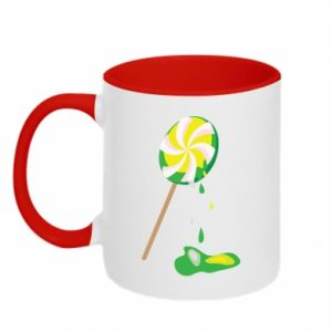 Two-toned mug Green lollipop