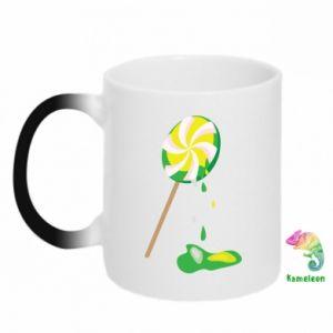 Chameleon mugs Green lollipop