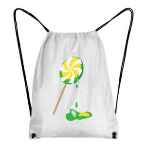 Plecak-worek Zielony lizak