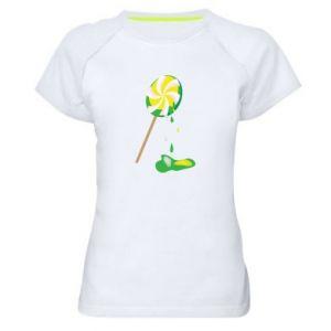 Koszulka sportowa damska Zielony lizak