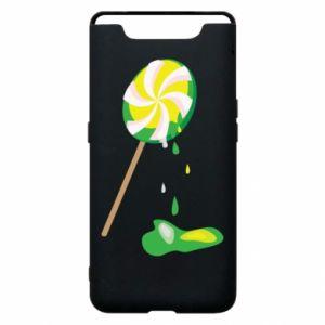 Etui na Samsung A80 Zielony lizak