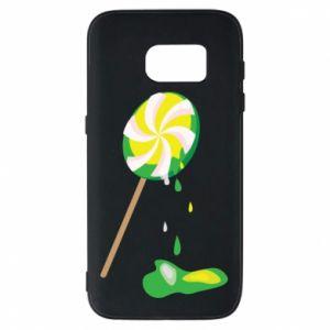 Etui na Samsung S7 Zielony lizak