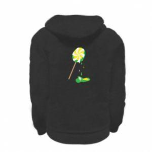 Bluza na zamek dziecięca Zielony lizak