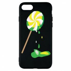 Etui na iPhone 7 Zielony lizak