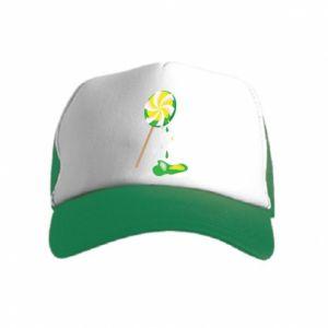 Kid's Trucker Hat Green lollipop