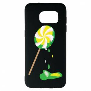 Etui na Samsung S7 EDGE Zielony lizak