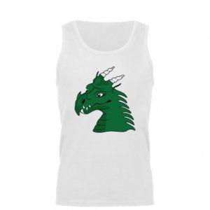 Męska koszulka Zielony smok z rogami - PrintSalon