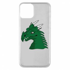 Phone case for iPhone 11 Green Dragon with horns