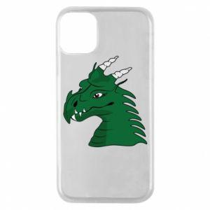 Etui na iPhone 11 Pro Zielony smok z rogami