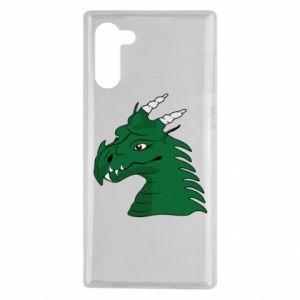 Etui na Samsung Note 10 Zielony smok z rogami