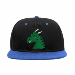 SnapBack Green Dragon with horns