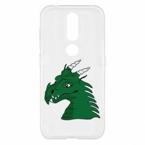 Etui na Nokia 4.2 Zielony smok z rogami