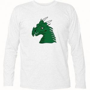 Koszulka z długim rękawem Zielony smok z rogami - PrintSalon