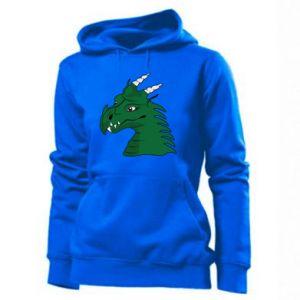Damska bluza Zielony smok z rogami - PrintSalon