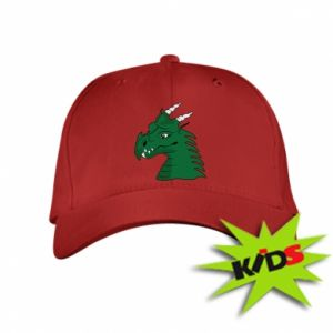 Kids' cap Green Dragon with horns