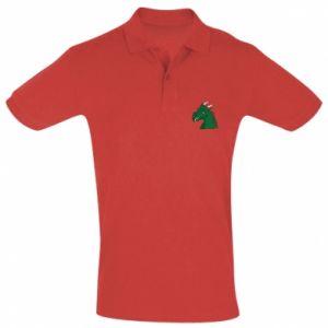 Koszulka Polo Zielony smok z rogami - PrintSalon